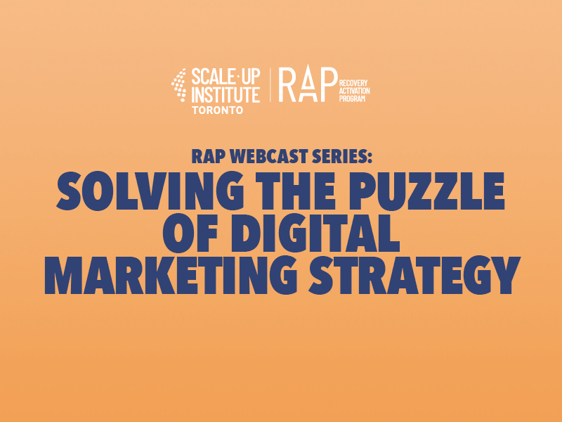 RAP Webcast Series: Solving the Puzzle of Digital Marketing Strategy