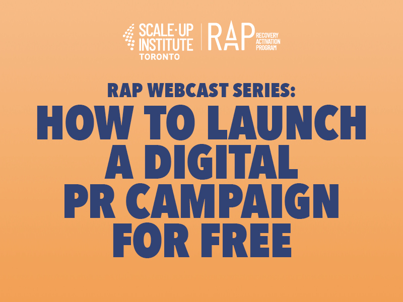RAP Webcast Series: How to Launch a Digital PR Campaign for Free Image